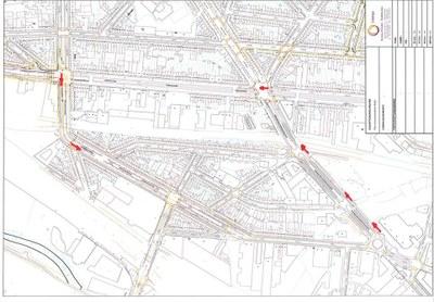 Déviation Rue Saint Denis vers Pont de Luttre Omleidingsplan Sint Denijsstraat richting Luttreburglaan